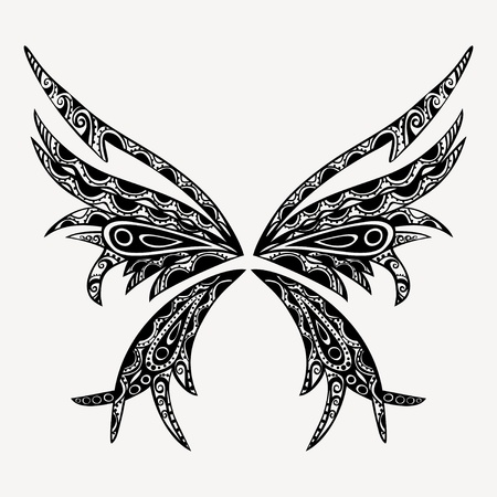 tattoo butterfly, vector version is in my portfolio Vector