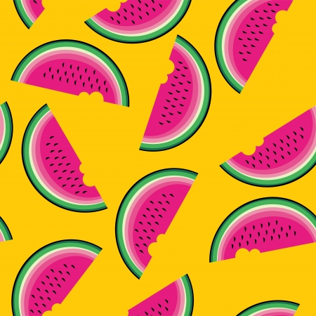 Seamless pattern with watermelon. Vector