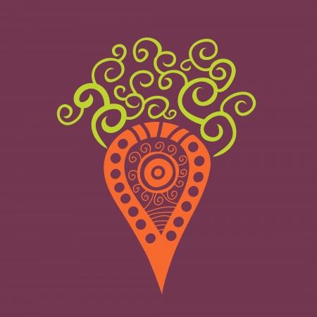 cartoon carrot: Illustration of cartoon carrot, element for your design