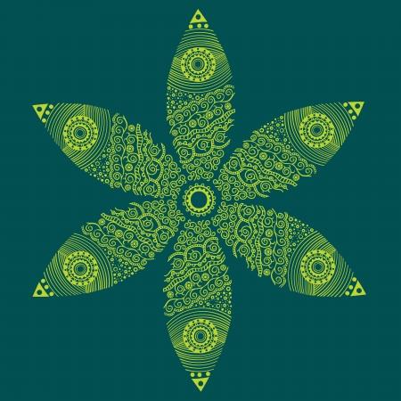 floral ornament, decoration Vector