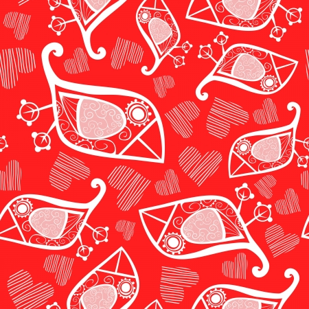 Romantic seamless pattern.  Vector