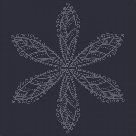 Indian ornament, kaleidoscopic floral pattern, mandala. Vector
