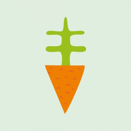fresh produce: Illustration of cartoon carrot, element for your design