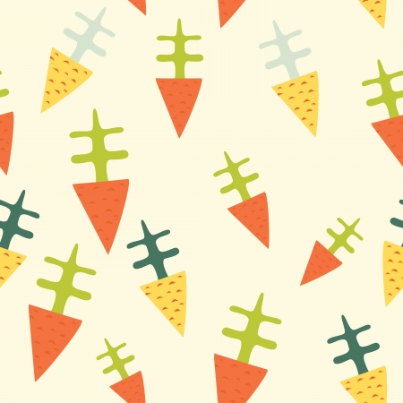 Seamless pattern with stylized carrot. Vector
