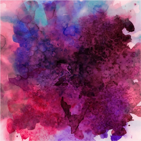 colour splash: abstract hand drawn watercolor background, stain watercolors colors wet on wet paper Illustration