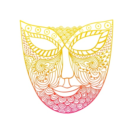 carnival mask, mask stylization Stock Vector - 21404112