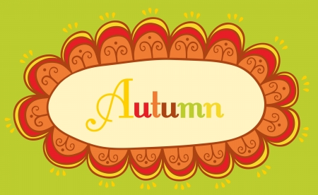 Abstract frame for your text. Autumnal theme header.  Vector