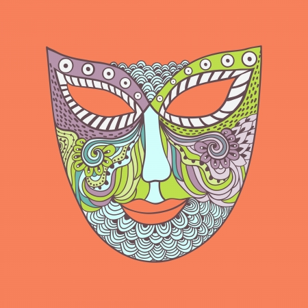 carnival mask, mask stylization Stock Vector - 21404224