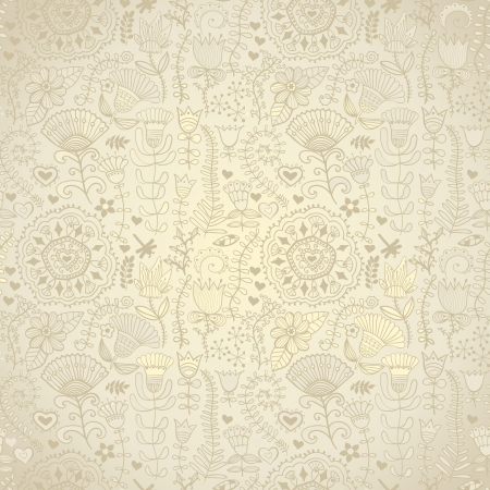 Abstract floral background, summer theme seamless pattern