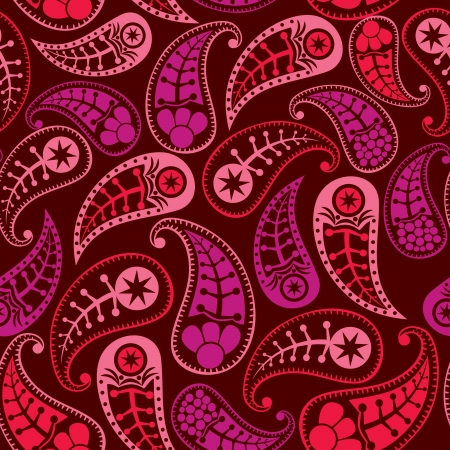 persian art: Seamless paisley texture for your design. Endless pattern with paisley.