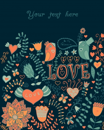 romantic seamless pattern with hearts Stock Vector - 21404767