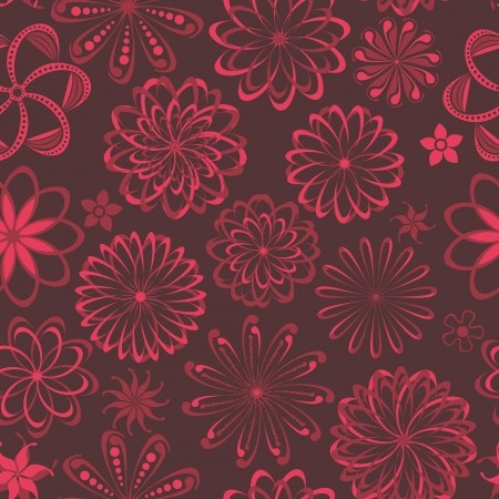 Abstract floral background, summer theme seamless pattern, vector wallpaper, summer texture, wrapping with flowers, spring and summer theme for your design Vector