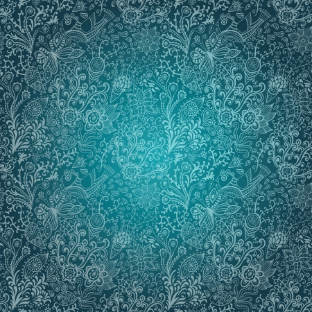 ornamental background: Seamless texture with flowers, birds and butterflies. Seamless pattern can be used for wallpaper, pattern fills, web page background,surface textures. Gorgeous seamless floral background