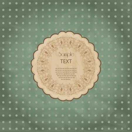 decoracion de pasteles: Marco de encaje redonda ornamentales. Antecedentes para celebraciones, fiestas, costura, artes, artesan�as, libros de recuerdos, de mesa, decoraci�n de pasteles. Tapete de encaje.