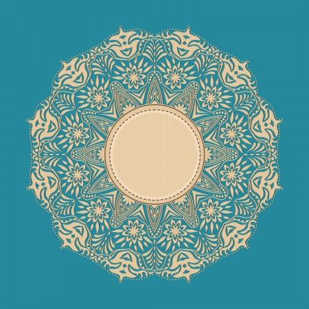 lacy: Decorative Vintage Design Element, illustration with lacy frame decoration
