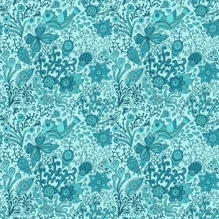 Textura transparente con flores, p�jaros y mariposas. Sin fisuras patr�n se puede utilizar para fondos de escritorio, patrones de relleno, de fondo p�gina web texturas de la superficie. Gorgeous sin fondo floral Foto de archivo - 21405079