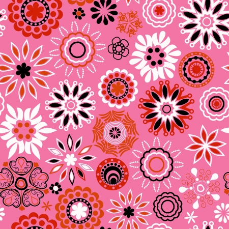 resulting: Floral seamless pattern with flowers. Copy square to the side and youll get seamlessly tiling pattern which gives the resulting image ability to be repeated or tiled without visible seams.