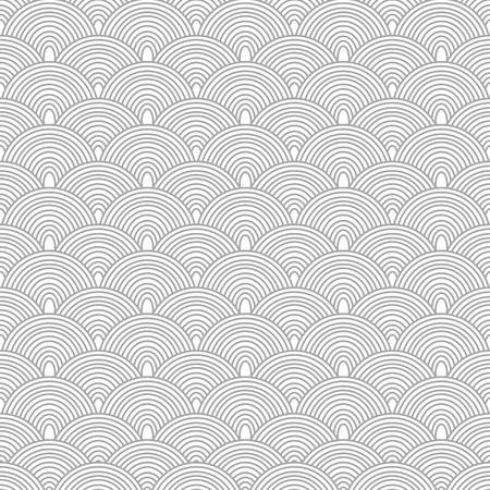 fantail: Seamless oriental style pattern in black and white Illustration