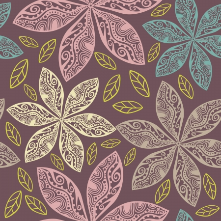 Abstract floral background, summer theme seamless pattern Vector