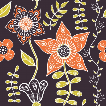 Seamless texture with flowers. Endless floral pattern. Seamless pattern can be used for wallpaper, pattern fills, web page background, surface textures. Vector