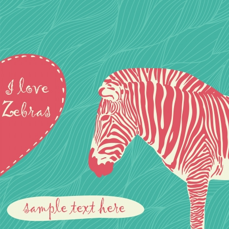 zebra print: zebra with place for text Illustration