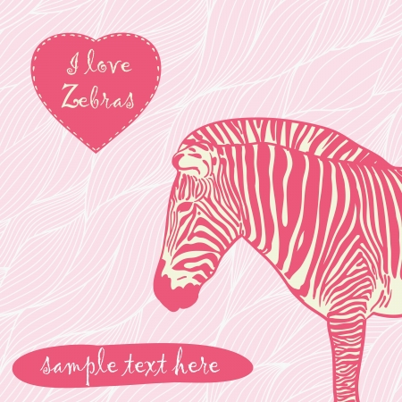 zebra with place for text Vettoriali