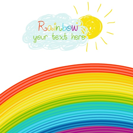 flecks: Bright rainbow illustration Illustration