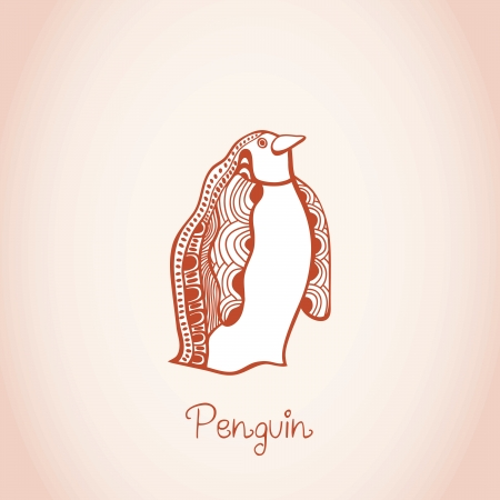 card illustration of penguin Stock Vector - 25147149