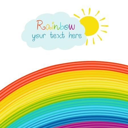 nice day: Bright rainbow illustration Illustration
