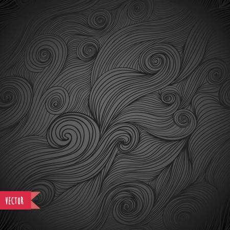 Striped background. Vector illustration. Tangled seamless pattern. Abstract hand-drawn waves texture, wavy background. Can be used for wallpaper, pattern fills, web page background,surface textures. Vector
