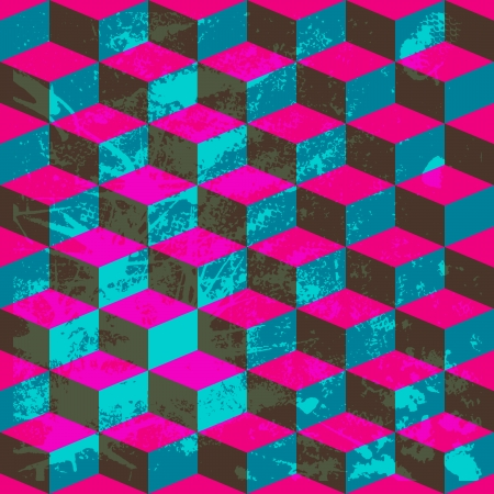 multilayer: Seamless geometric pattern with geometric shapes, rhombus, colorful zigzags, looks like stairs or multilayer object.