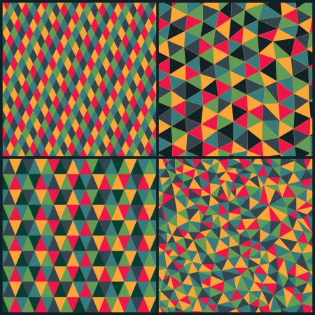 rhombic: Set of four geometric pattern.