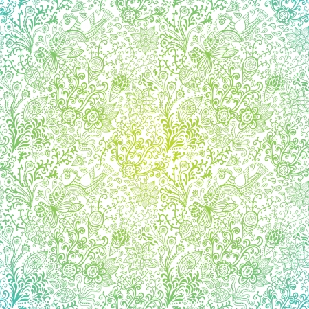 Ornate floral seamless texture, endless pattern with flowers.  Vector