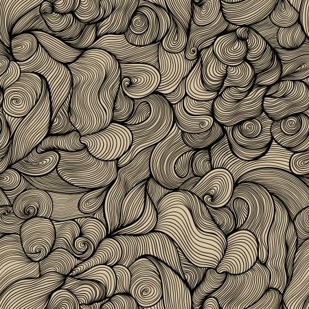 원활한 추상 손으로 그린 패턴, 파도 배경입니다.