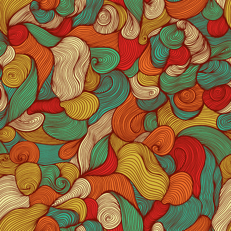 linear art: Seamless pattern with leaf  Wallpaper with leaves Illustration