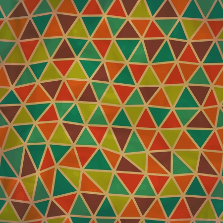 seamless texture: Nahtlose Textur mit Dreiecken, Mosaik endlose Muster.