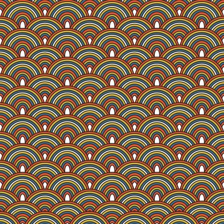 Seamless Japanese pattern, Colorful decorative seamless Illustration