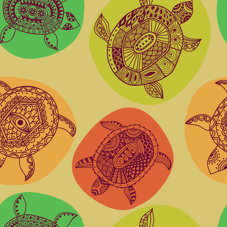 Seamless pattern with turtles  Seamless pattern can be used for wallpaper, pattern fills, web page background,surface textures  Seamless animal background Vector