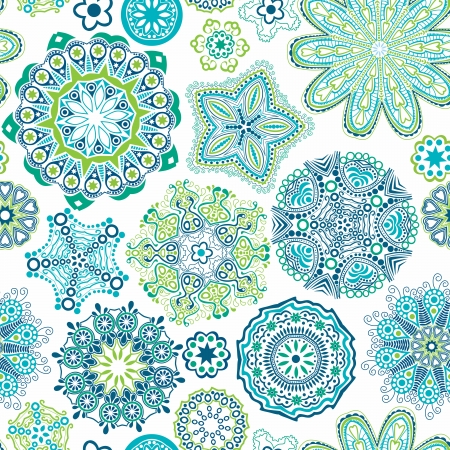 Floral seamless pattern with flowers.  Illustration