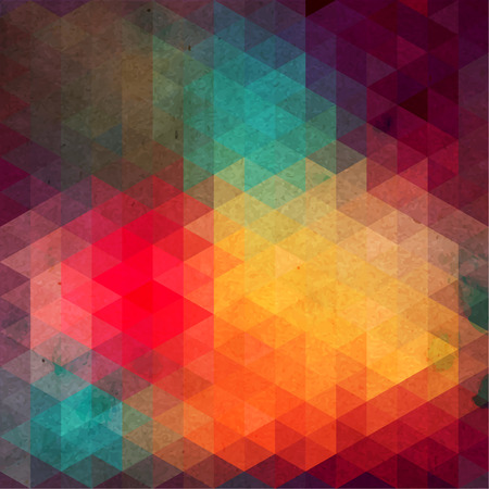 Retro pattern of geometric shapes  Colorful mosaic banner  Geometric hipster retro background with place for your text  Retro triangle background Vector