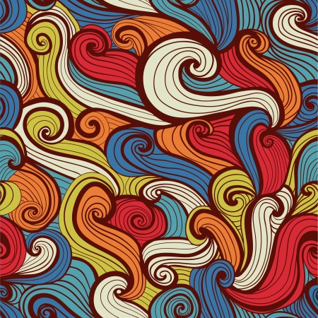 endless repeat structure: seamless abstract hand-drawn pattern