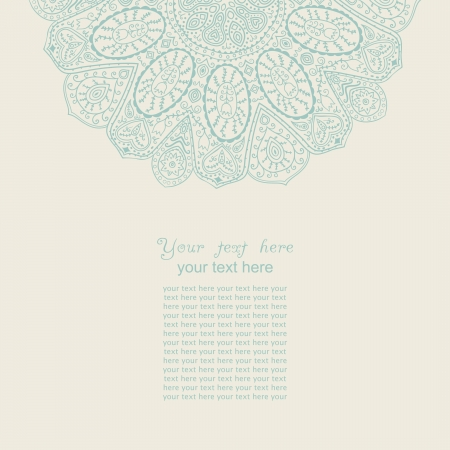 Vintage invitation card. Template frame design for card. Vintage Lace Doily.Can be used for packaging,invitatio ns, Valentines Day decoration,bag template, print for packet, cup.