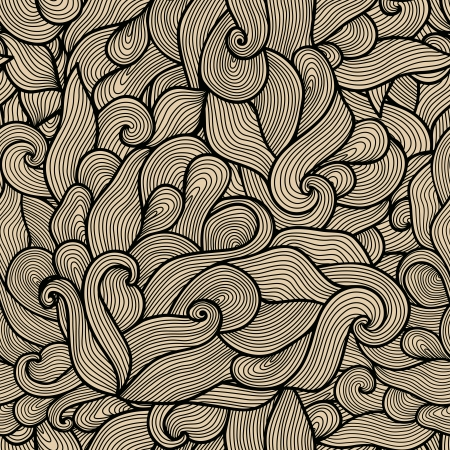 seamless abstract hand-drawn pattern, waves background. Seamless pattern can be used for wallpaper, pattern fills, web page background,surface textures. Gorgeous seamless floral background Stock Vector - 25301685