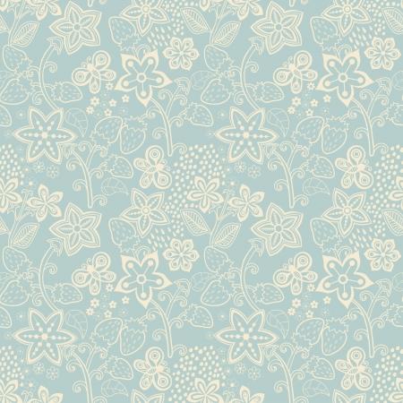 preserves: Textura floral transparente con una fresa. Fondo brillante, tema del verano, seamless, patr�n, papel pintado, vector, textura verano, envolviendo con flores, la primavera y el verano el tema para su dise�o Vectores