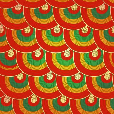 editable eastern asia: Seamless Japanese pattern, Colorful decorative seamless Illustration