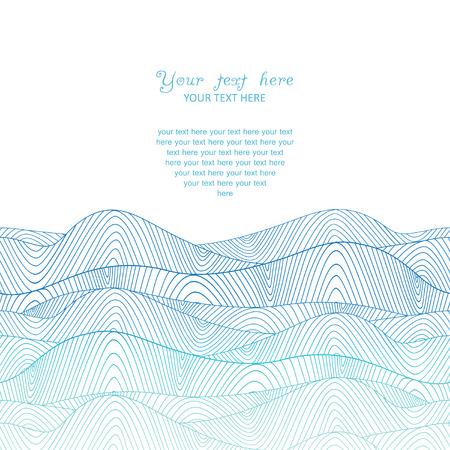 カラフルな抽象的な手描きのパターン、波背景  イラスト・ベクター素材