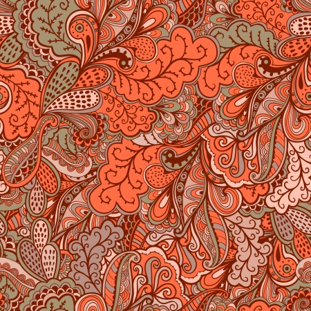 Ornamental lace pattern, background with many details, looks like crocheting handmade lace, lacy designs. Orient traditional ornament. Oriental motif Vektorové ilustrace