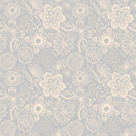 Seamless floral texture. Copy that square to the side and youll get seamlessly tiling pattern which gives the resulting image the ability to be repeated or tiled without visible seams Ilustração