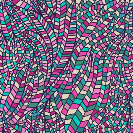 wallpaper doodle: Seamless abstract hand-drawn waves pattern, wavy background. Seamless pattern can be used for wallpaper, pattern fills, web page background,surface textures. Gorgeous seamless floral background