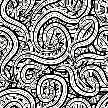 negro: Círculo fondo Seamless, patrón transparente con formas redondas